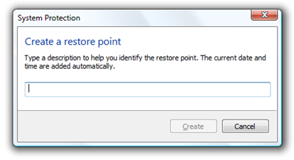 how to create an old restore point