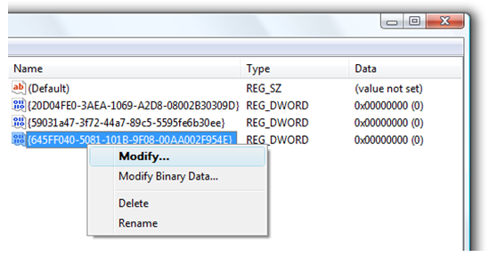 Modify Registry Key Value