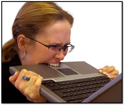 Ever felt like doing this? (Source: http://scienceblogs.com/isisthescientist/FrustratedWoman.jpg)